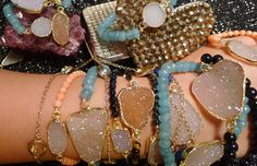 Charmed by Jewelz   semi precious stone bracelets adorned with trendy charms    order at: www.charmedbyjewelz.com   E-mail: charmedbyjewelz@aol.com