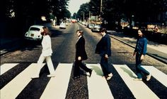 The auction photo of the Beatles walking over the Abbey Road pedestrian crossing the 'wrong way'