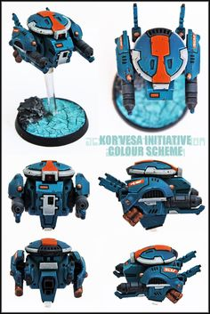 The Tau Kor'vesa Initiative (Tau Drone Themed Army) - Page 3 Warhammer 40k Figures, Warhammer 40k Art, Warhammer Models, Warhammer 40k Miniatures, Tau Drones, Empire Tau, Cyberpunk, Tau Army, Miniaturas Warhammer 40k