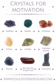 Healing Crystals for motivation by Soul Sisters Designs
