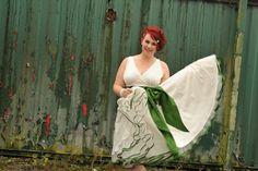 Dani wearing June by Lizzie Jayne, 50s wedding dress.