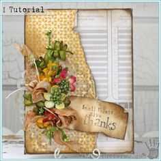 Tammy Tutterow Tutorial | In All Things Give Thanks Home Decor Canvas