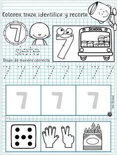 Preschool Printables, Preschool Math, Kindergarten Math, Math Activities, English Time, Bilingual Classroom, Tracing Letters, Early Childhood Education, Home Schooling