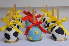 Maçã decorada Toy Story