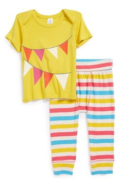 Stem Baby Organic Cotton Tee & Pants (Baby Girls) available at #Nordstrom