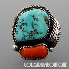 Size 13 Men S White Buffalo Turquoise Ring Native American