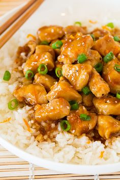 Lighter Orange Chicken from @cookingclassy