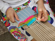 Combining weaving and storytelling - brilliant lesson on weaving with intention.  Great embedded literacy!