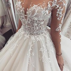 Magbridal Chic Tulle Jewel Neckline Ball Gown Wedding Dresses With Lace Products . - Magbridal Chic Tulle Jewel Neckline Ball Gown Wedding Dresses With Lace Products … Magbridal Chic - Best Wedding Dresses, Bridal Dresses, Bridesmaid Dresses, Prom Dress, Wedding Outfits, Unique Wedding Dress, Wedding Dress Tumblr, Extravagant Wedding Dresses, Most Beautiful Wedding Dresses