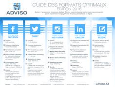 Adviso vous partage son infographie des détails clés pour maximiser l'engagement de vos publications en ligne et votre visibilité sur les médias sociaux.