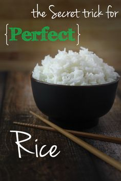 Perfect rice, every time! I can't believe it took me so long to figure this out.