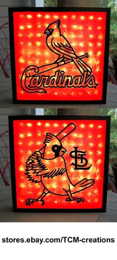MLB Major League Baseball St Louis Cardinals shadow boxes with LED lighting