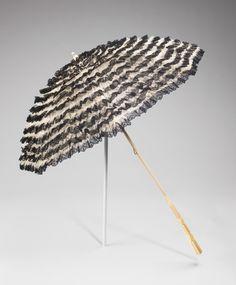 Parasol ca. 1900-1910 via The Costume Institute of The Metropolitan Museum of Art