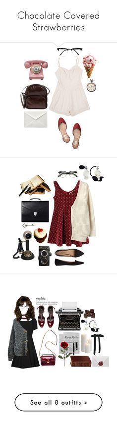"""""""Chocolate Covered Strawberries"""" by sweetlikecinnamonnn ❤ liked on Polyvore featuring Jil Sander Navy, Lover, River Island, Valentino, Acne Studios, Aspinal of London, Mark's Tokyo Edge, Elizabeth and James, Chicnova Fashion and Prada"""