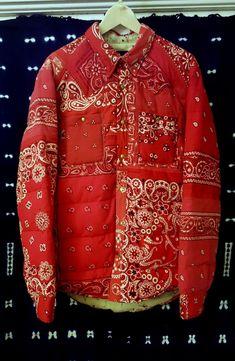 isvim Visvim Kerchief Down Jacket Red Bandana