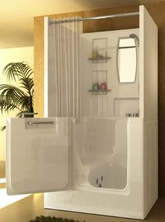 used walk in bathtub. The Macaw Walk in Bathtub with Shower Stall Enclosure is ideal for  retrofitting an existing In this master bathroom remodel we installed a walk bathtub and