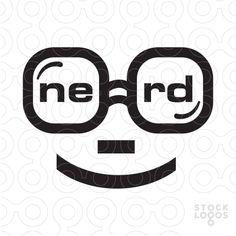 "Simplistic representation of a nerd's signature glasses, which incorporate the company name ""Nerd"" inside the glasses. Logo Samples, Editing Skills, Make Your Logo, Pin Logo, Logo Design, Graphic Design, Geek Fashion, Social Media Design, Logos"
