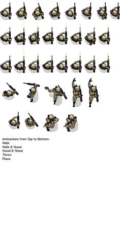 Soldier Spritesheet Png Infiltrator Top Down Sneaking Shooter Game