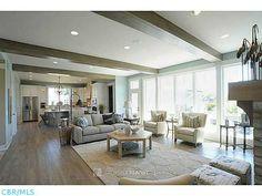 open floorplan and floor to ceiling windows
