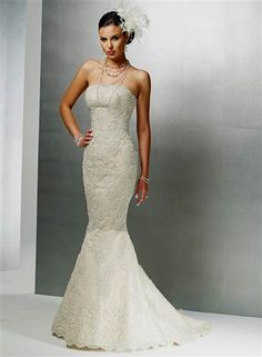 Cool strapless lace mermaid wedding dresses 2017-2018