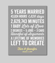5 Year Anniversary Gift 5 year Wedding Anniversary by karimachal