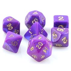 Mini Otherworld Dice (Purple) RPG role playing game dice