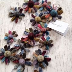 French designer Sophie Digard creates artworks that beg to be touched - curious crocheted flowers velvety with soft buds, each leaf a Crochet Art, Crochet Flowers, Hand Crochet, Fabric Flowers, Crochet Patterns, Textile Jewelry, Fabric Jewelry, Textiles, Crochet Accessories