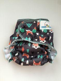 "Cheeky Cloth One Sized Reusable Swim Diaper ""Aztec Fox"""
