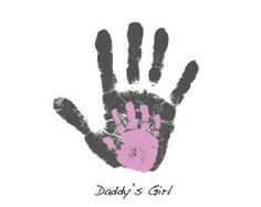 Personalized Father's Day gift handprint art footprint print for Dad from child or baby Personalized Fathers Day Gifts, Fathers Day Crafts, Daddy Gifts, Gifts For Dad, Parent Gifts, Daddy Daughter Dance, Daddy Day, Father Daughter, Baby Crafts