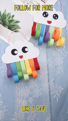cloud craft for toddlers Paper Crafts For Kids, Craft Activities For Kids, Preschool Crafts, Toddler Activities, Fun Crafts, Hand Crafts For Kids, Spring Crafts For Kids, Toddler Crafts, Diy For Kids