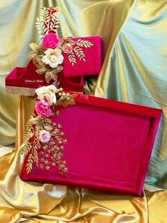 Wedding Gifts Wrapping Unique Ideas For 2019 Indian Wedding Gifts, Desi Wedding Decor, Indian Wedding Decorations, Wedding Crafts, Diy Wedding, Wedding Mandap, Stage Decorations, Wedding Stage, Wedding Receptions