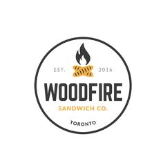 Combined the elements of fire and baked french bread to give the illusion of a campfire/woodfire, creating a unique icon logo. | Graphic Design, Logo, Fire, Sandwich, Bread, Sub, Restaurant, Food and Beverage