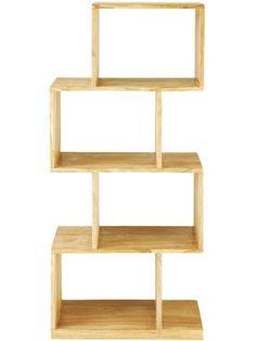 """Kleines Zimmer: In die Höhe klettern Mit Regalen, die jeden Zentimeter bis zur Decke füllen, schaffen Sie selbst in der winzigsten Kammer ausreichend Platz für Bücher oder Ordner. Praktisch: Ein Modulsystem können Sie im Falle eines Umzugs jederzeit erweitern oder verändern.  EXTRA-TIPP: Tritthocker, mit denen Sie die oberen Fächer erreichen, machen sich ungenutzt toll als Pflanzentreppe.  (Regal """"Stockholm"""", ab ca. 199 €: Maisons du Monde)"""