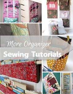 One thing we can't get enough of these days is organizers sewing tutorials to help keep our homes organized and clutter free.