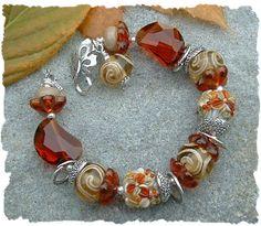 Farb-und Stilberatung mit www.farben-reich.com - Autumn Journey, Gorgeous Fall Lampwork Bead Bracelet
