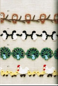 If you looking for a great border for either your crochet or knitting project, check this interesting pattern out. When you see the tutorial you will see that you will use both the knitting needle and crochet hook to work on the the wavy border. Crochet Boarders, Crochet Motifs, Thread Crochet, Crochet Trim, Knit Or Crochet, Crochet Crafts, Yarn Crafts, Crochet Stitches, Crochet Projects