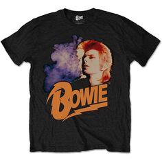 David Bowie Men's Tee: Retro Bowie 2 Wholesale Ref:BOWTS11MB