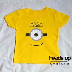 Toddler Minion Shirt  One Eye Minion tshirt Boy  by headsupdesigns, $14.95