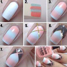 Diseños para uñas paso a paso con esmalte, diseño para uñas paso a paso esponja.  Unete al CLUB #uñasdecoradas #acrylicnails #uñasdemoda