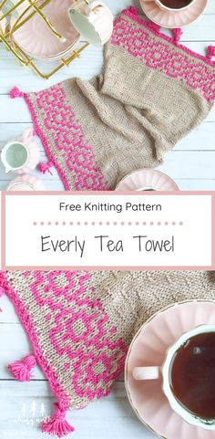 Looking for a quick beginner knitting project? Then check out my free Everly Tea Towel knitting pattern on the blog! It features mosaic knitting, Lion Brand Yarn's Truboo, and tassels. The pattern features written instructions and a mosaic chart along with directions on how to make your tassels. This is a quick weekend knit easy enough for the beginner knitter. All you need to know is how to knit, purl and slip stitches. #freeknittingpattern #mosaicknitting #knithomedecor #beginnerknitting Knitted Washcloth Patterns, Potholder Patterns, Dishcloth Knitting Patterns, Crochet Dishcloths, Beginner Knitting Patterns, Easy Knitting, Knitting For Beginners, Ravelry, Knit Rug