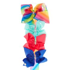 """<P>So you've collected all of JoJo Siwa's bows but now you have the issue because you have nowhere to keep them! Here at Claire's we've created the perferct holder for your JoJo's Bows! </P><P><STRONG>Bow Holder</STRONG> by <STRONG>JoJo Siwa©</STRONG></P><UL><LI>L 30"""" &l..."""