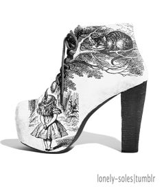 LONELY-SOLES - Alice in Wonderland Shoes