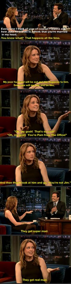 Funny pictures about You're Pam From The Office. Oh, and cool pics about You're Pam From The Office. Also, You're Pam From The Office photos. Office Jokes, Funny Office, The Office Show, The Office Jim, Office People, Funny Quotes, Funny Memes, Nba Funny, Funny Couples