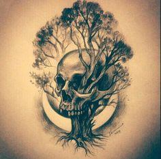 Just the tree, no skull ...Tattoo Finka hayat ağacı