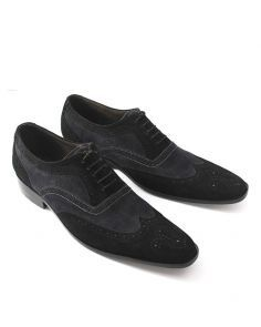 Blue and Black Leather Men's Shoes Shop the best handmade shoes at http://www.tuccipolo.com