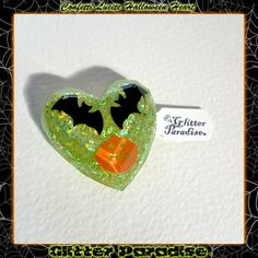Confetti Lucite Halloween Heart by GlitterParadise  Just Listed now in the official Etsy Shop  http://ift.tt/2f12cFj