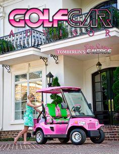 lilly pulitzer golf cart!