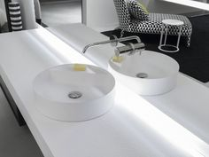 Countertop round Flumood® washbasin Simplo Collection by Antonio Lupi Design® design Mario Ferrarini