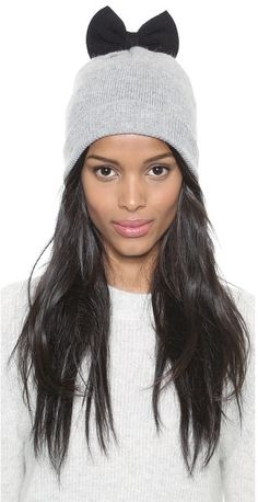 Kate Spade New York All the Trimmings Colorblock Beanie, This soft Kate Spade New York beanie gathers at the top and is finished a playful knit bow. Gift box included.