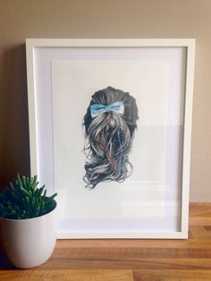 Hair with Bow Giclee Print by NatalieCandlish